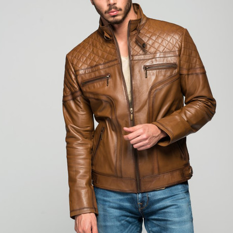 Cicero Leather Jacket // Antique Brown (XS)