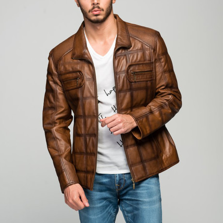 Augustus Leather Jacket // Antique Brown (XS)