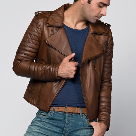 Julius Leather Jacket // Antique Brown (XS)