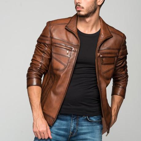 Cornelius Leather Jacket // Antique Brown (XS)
