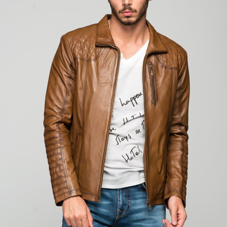 Dennis Leather Jacket // Antique Brown (XS)