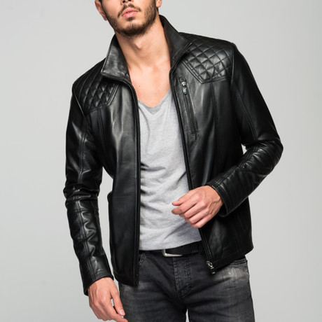 Domanik Leather Jacket // Black (XS)