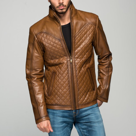 Febian Leather Jacket // Antique Brown (XS)