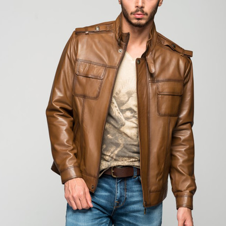 Kosta Leather Jacket // Antique Brown (XS)