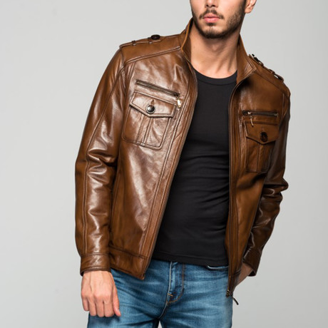 Ovid Leather Jacket // Antique Brown (XS)