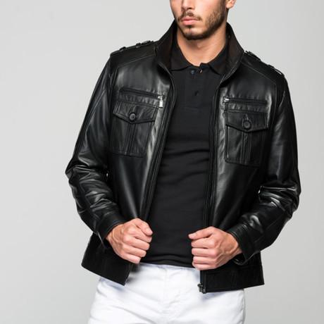 Pavle Leather Jacket // Black (XS)