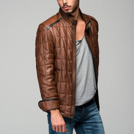 Remus Leather Jacket // Antique Brown (XS)