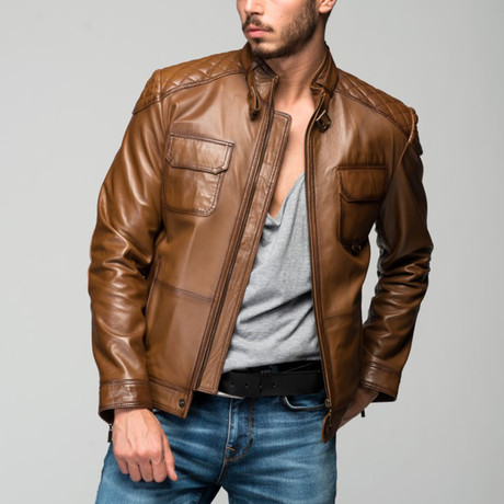 Leos Leather Jacket // Antique Brown (XS)