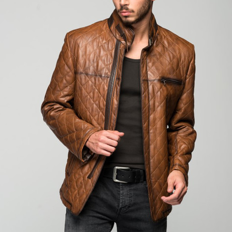 Petro Leather Jacket // Antique Brown (XS)