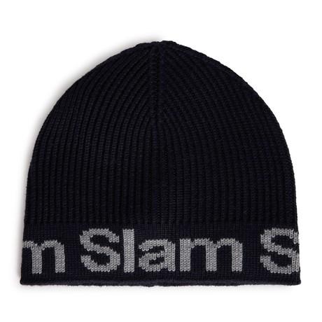 B172 Slam Merino Wool Blend Beanie // Navy