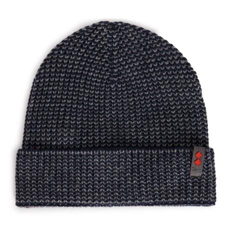 B175 Merino Wool Blend Beanie // Navy