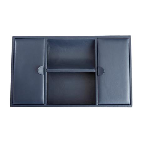 Executive Desk Organizer Tray // Blue