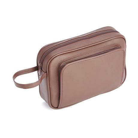 Travel Shaving Kit // Brown
