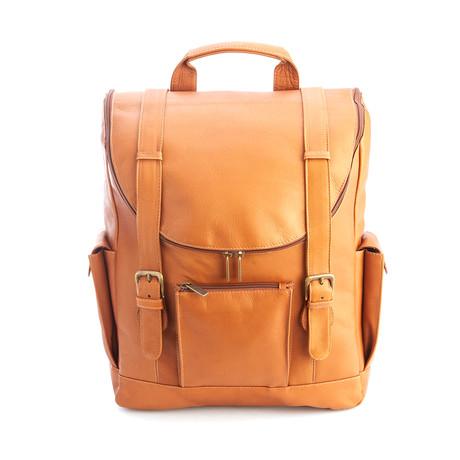 """Backpack + 15"""" Laptop Sleeve // Tan"""