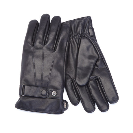Touchscreen Lambskin Gloves // Black (Medium)