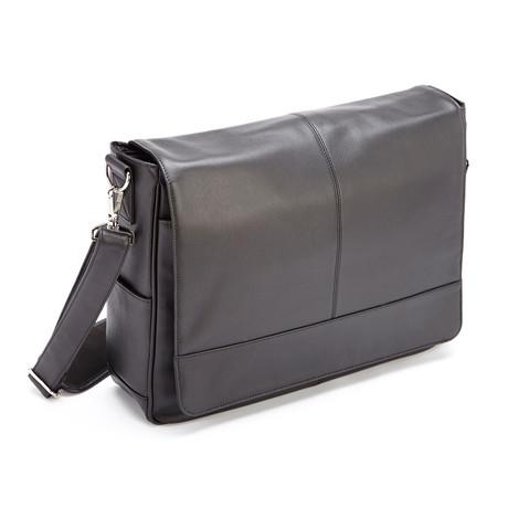 "15"" Laptop Messenger Bag // Black"