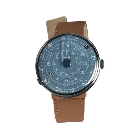 Klokers Quartz // KLOK-01-D7 Midnight Blue // Caramel Straight Strap