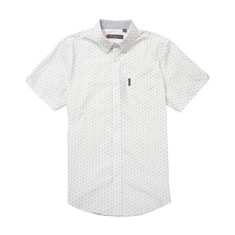 Short Sleeve Starburst Print Shirt // White (S)