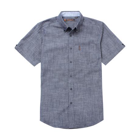 Short Sleeve Chambray Shirt // Blue (S)