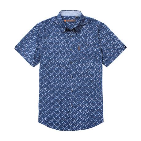 Short Sleeve Ditsy Print Shirt // Navy Blazer (S)