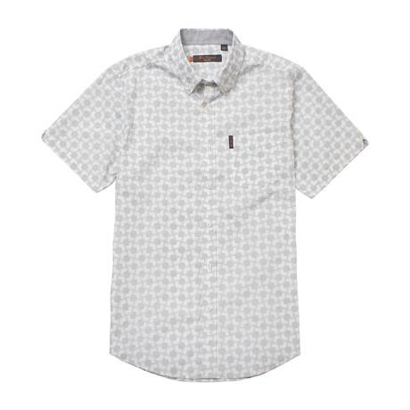 Short Sleeve Mod Geo Print Shirt // Silver Ash (S)