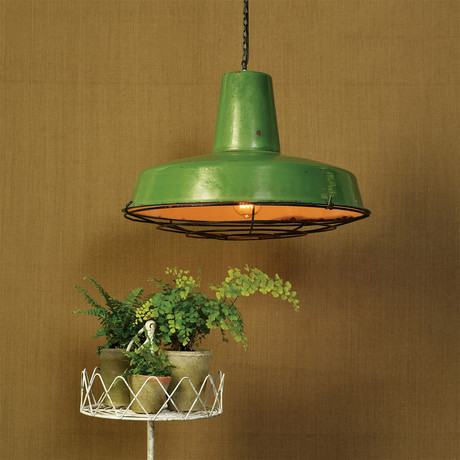 Cook Iron Pendant Lamp // Green