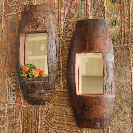 Axel Mirror // Salvaged Wood