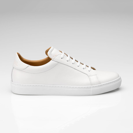 All Leather Sneaker // White (UK: 7)
