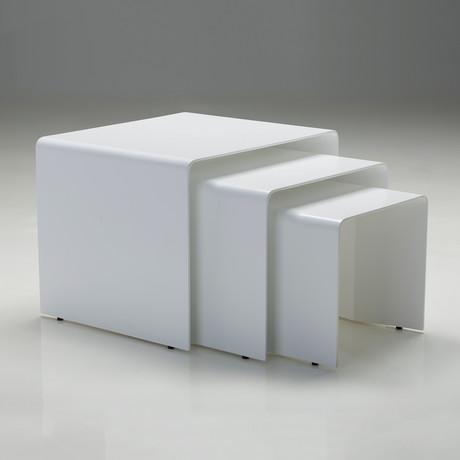 Playa 3 Piece Nesting Coffee Table // White