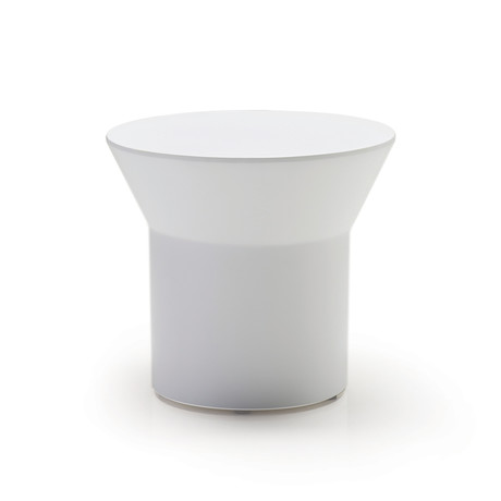Boracay End Table // White