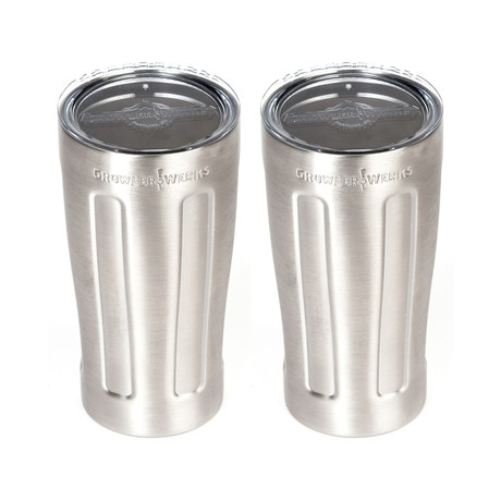 uPint Cups // Stainless Steel // Set of 2
