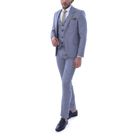 Dave 3 Piece Slim Fit Suit // Gray (Euro: 44)