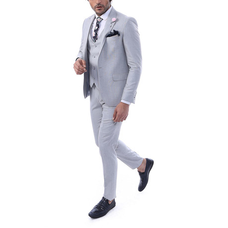Andy 3 Piece Slim Fit Suit // Gray (Euro: 44)