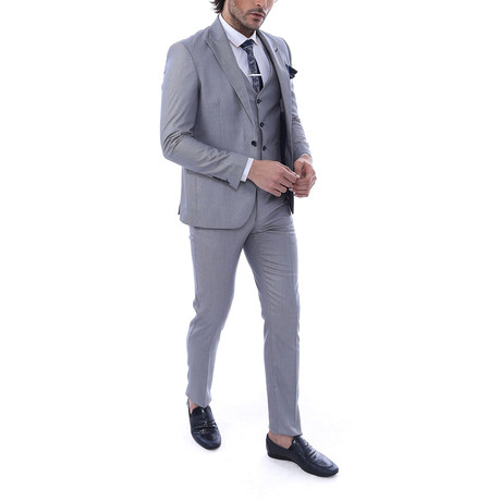 Anderson 3 Piece Slim Fit Suit // Gray (Euro: 44)