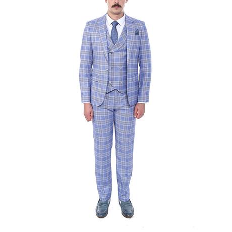 Ben 3 Piece Slim Fit Suit // Light Blue (Euro: 44)