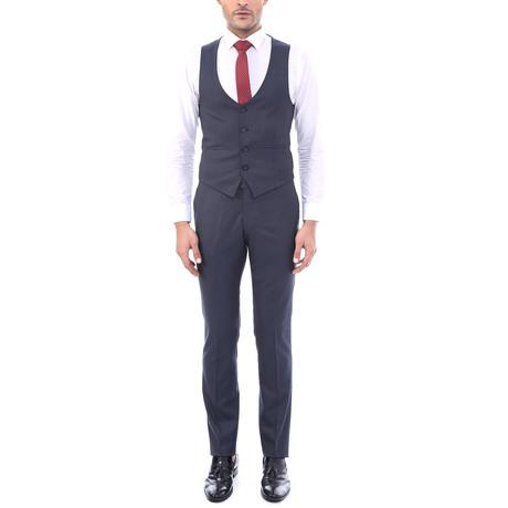 Riley 3 Piece Slim Fit Suit // Dark Gray (Euro: 44)