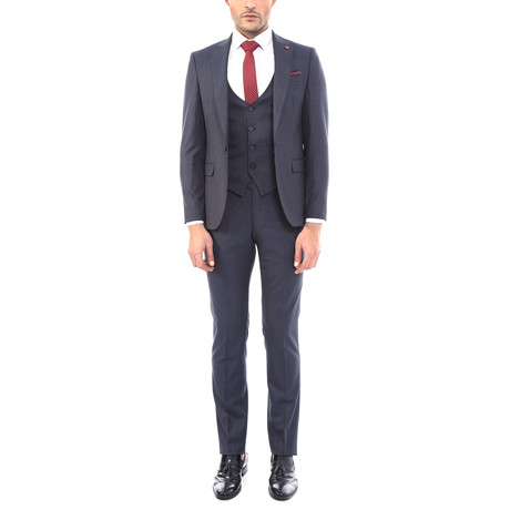 Riley 3-Piece Slim Fit Suit // Dark Gray (US: 34R)