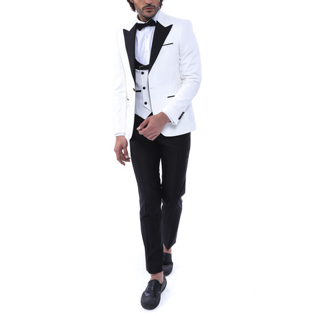 Ryder 3 Piece Slim Fit Suit // White (Euro: 44)