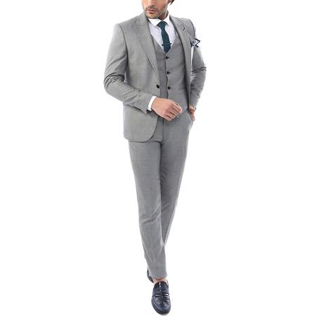 Michael 3 Piece Slim Fit Suit // Gray (Euro: 48)
