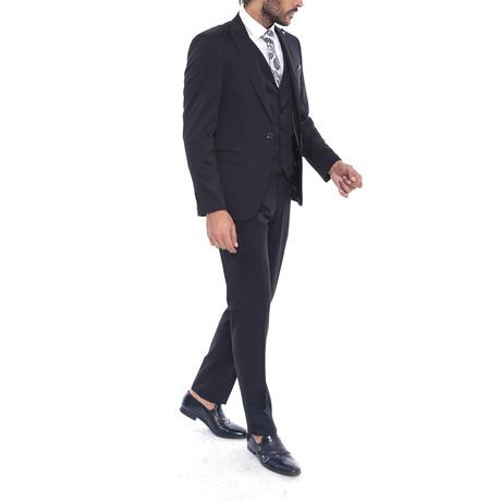 Anthony 3 Piece Slim Fit Suit // Black (Euro: 44)