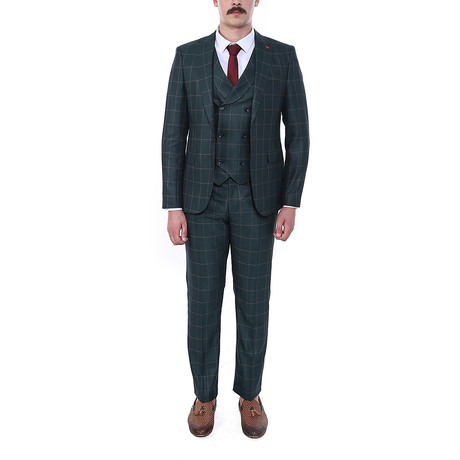 Brad 3 Piece Slim Fit Suit // Green (Euro: 44)