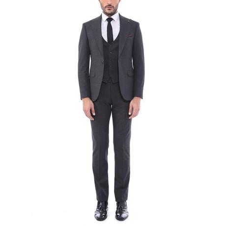 Charlie 3 Piece Slim Fit Suit // Smoked (Euro: 44)