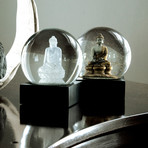 Crystal Buddha Snow Globe