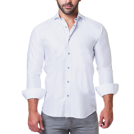 Einstein Dress Shirt // Ripple White (S)