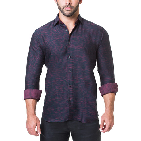 Fibonacci Dress Shirt // Melange Black (S)