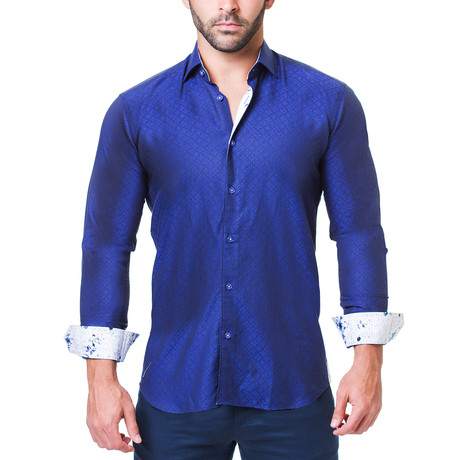 Fibonacci Dress Shirt // Brocade Blue (S)