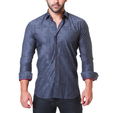 Fibonacci Dress Shirt // Dimension Grey (S)