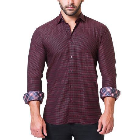 Fibonacci Dress Shirt // Love Red (S)