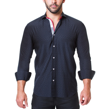 Einstein Dress Shirt Dress Shirt // Crosswise Navy (S)