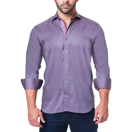 Einstein Dress Shirt // Purple (S)